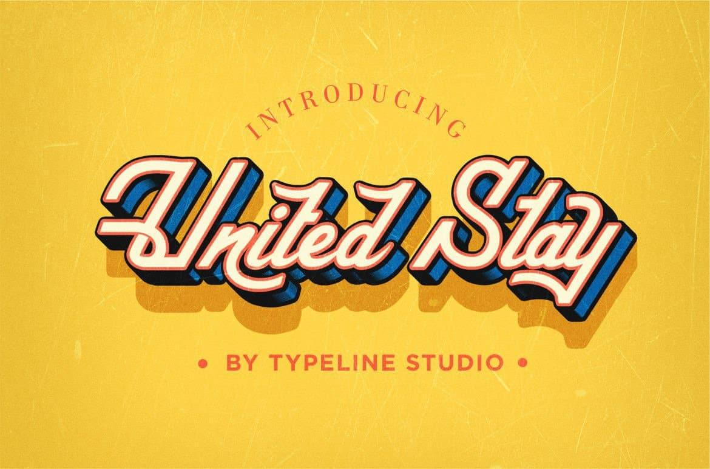 United Stay шрифт скачать бесплатно
