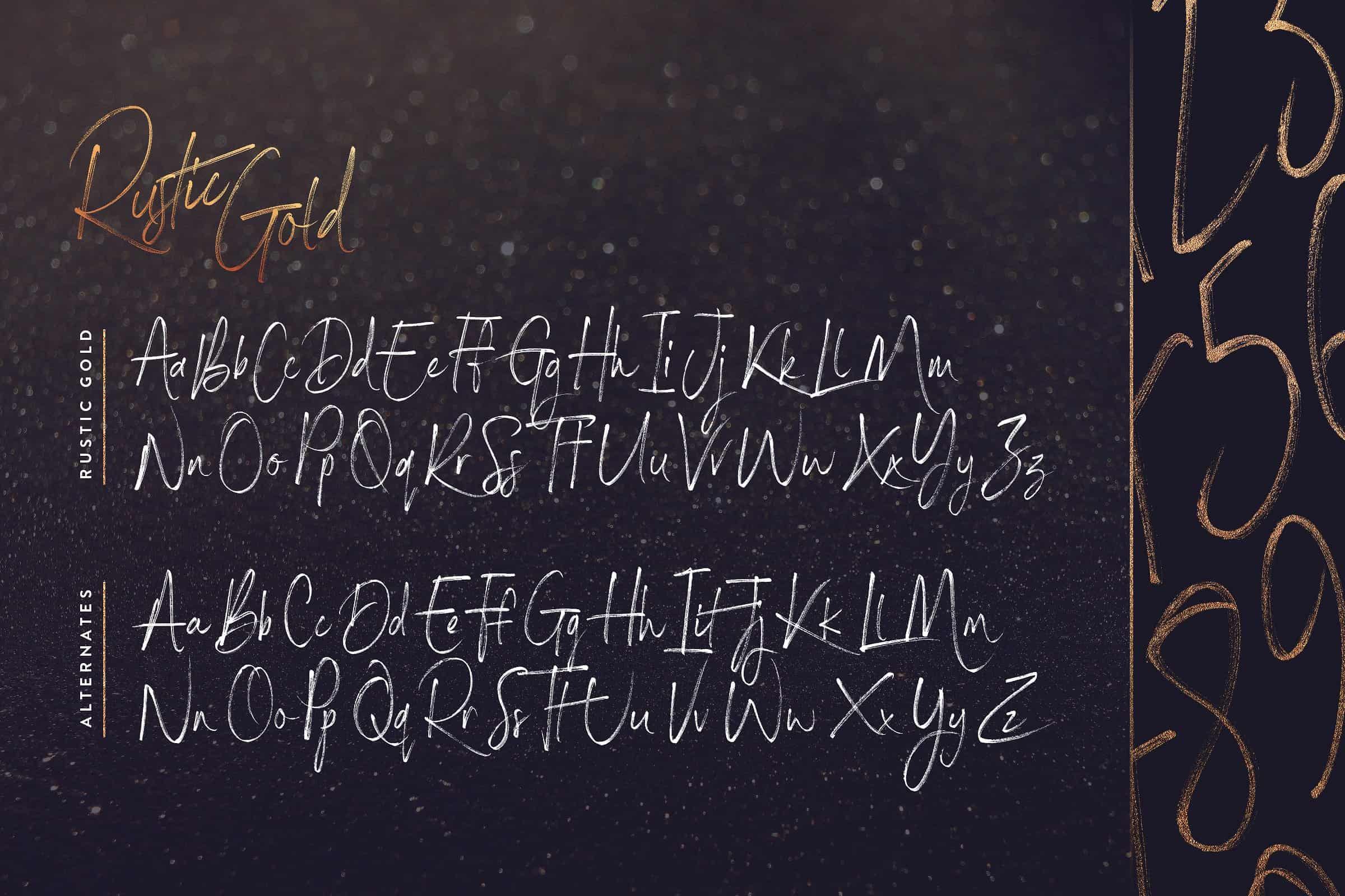 Download Rustic Gold  font (typeface)