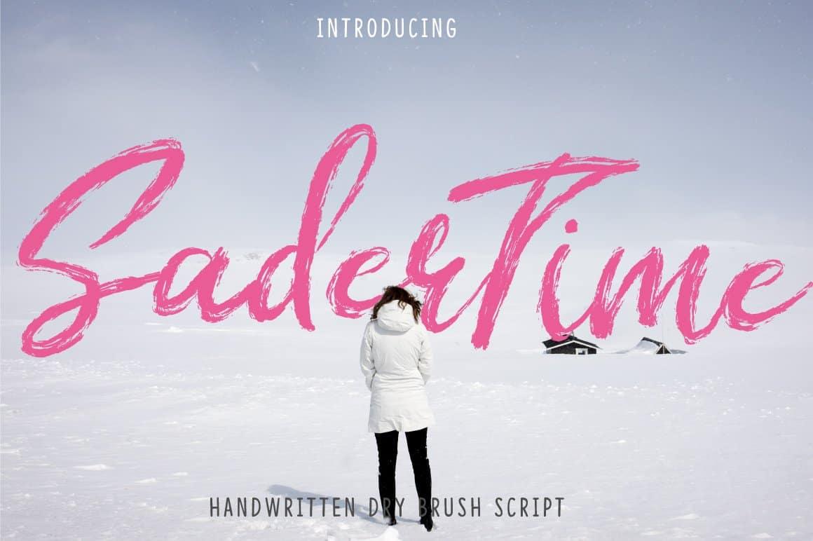 Download Sader Time font (typeface)