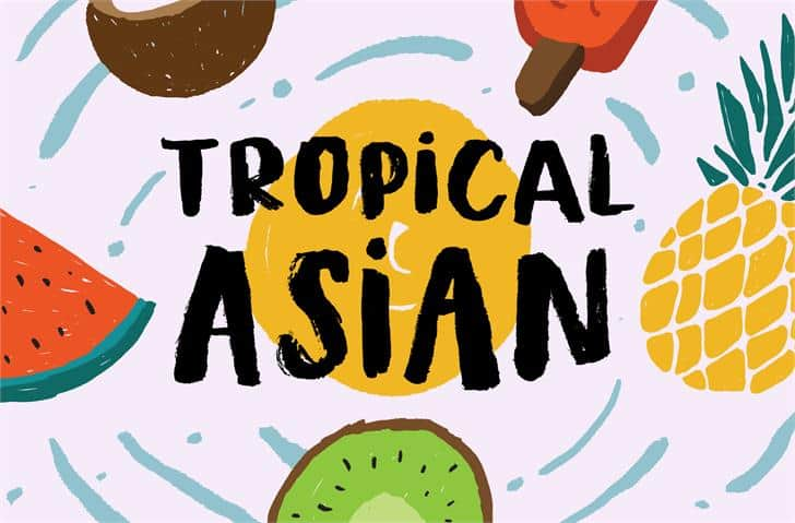 Download Tropical Asian font (typeface)