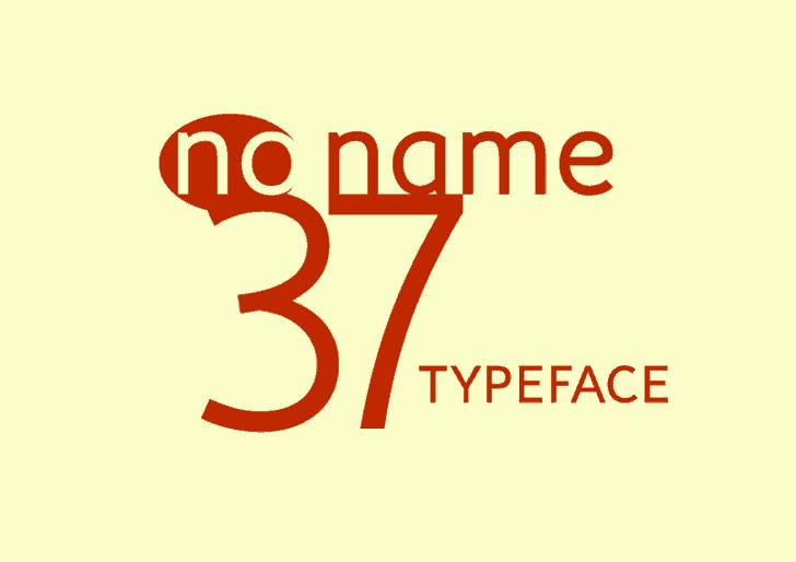 no_name_37 шрифт скачать бесплатно