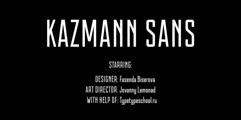 Kazmann San шрифт скачать бесплатно