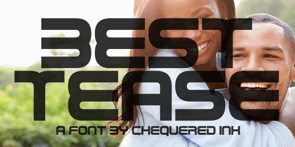 Best Tease шрифт скачать бесплатно