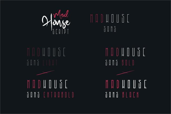 Download MadHouse Sanslight font (typeface)
