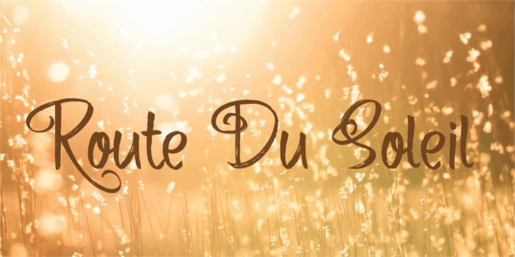 Route Du Soleil шрифт скачать бесплатно