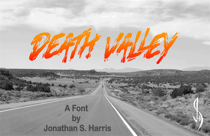 Download Death Valley font (typeface)