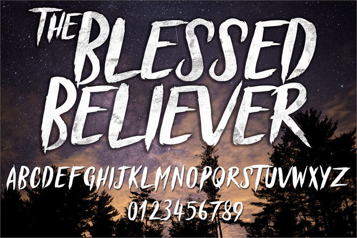 Download Blessed Believer font (typeface)