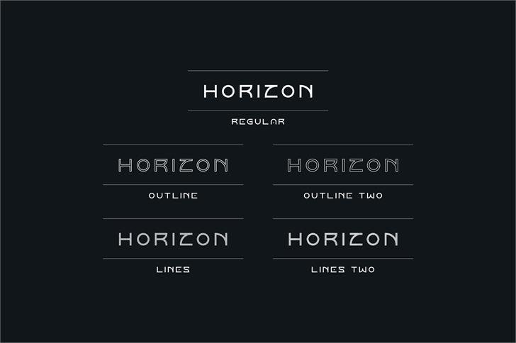 Download Horizon Outlinetwo font (typeface)