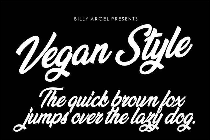Download Vegan Style font (typeface)