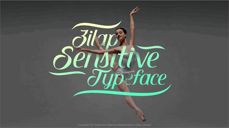 Zilap Sensitive шрифт скачать бесплатно