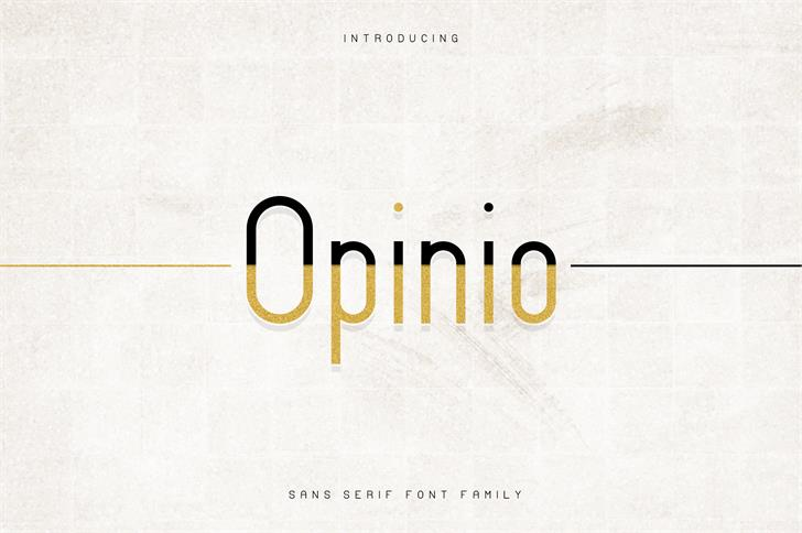 Download Opinio font (typeface)