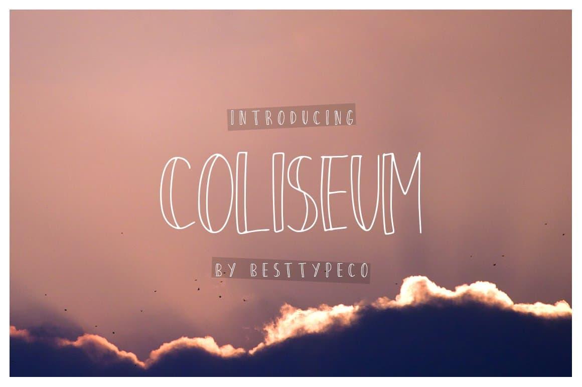 Download Coliseum font (typeface)