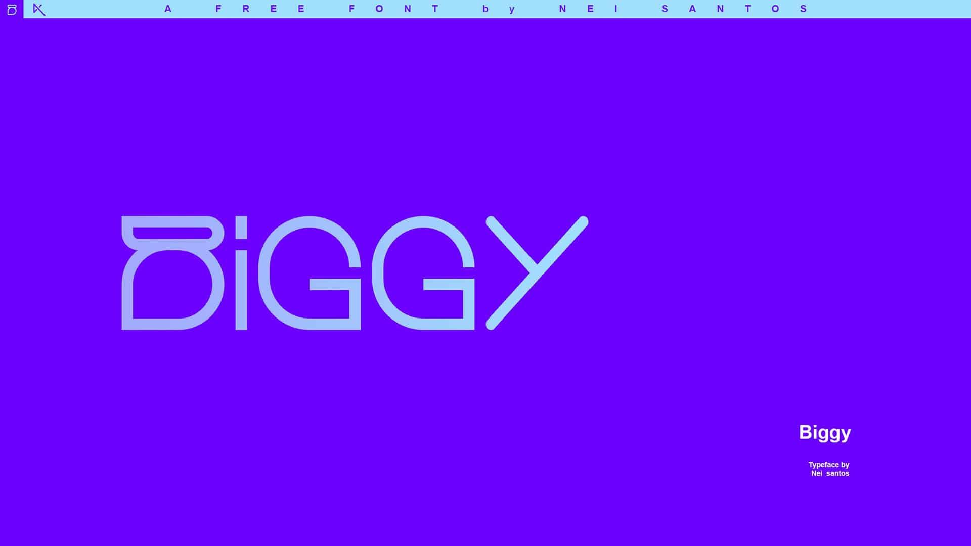 Download Biggy font (typeface)