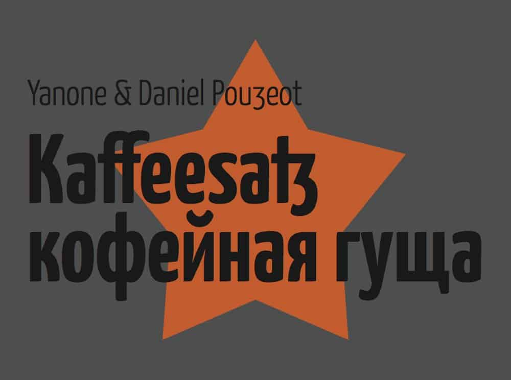Download Yanone Kaffeesatz font (typeface)