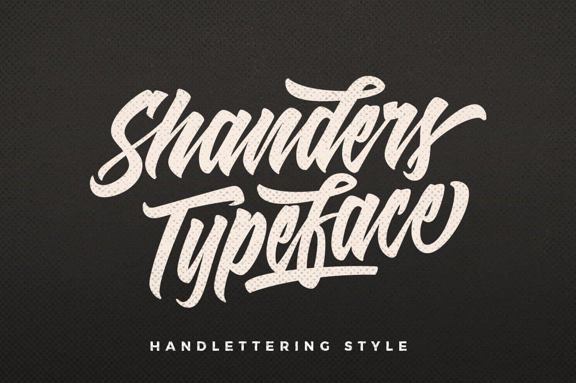 Download Shanders font (typeface)