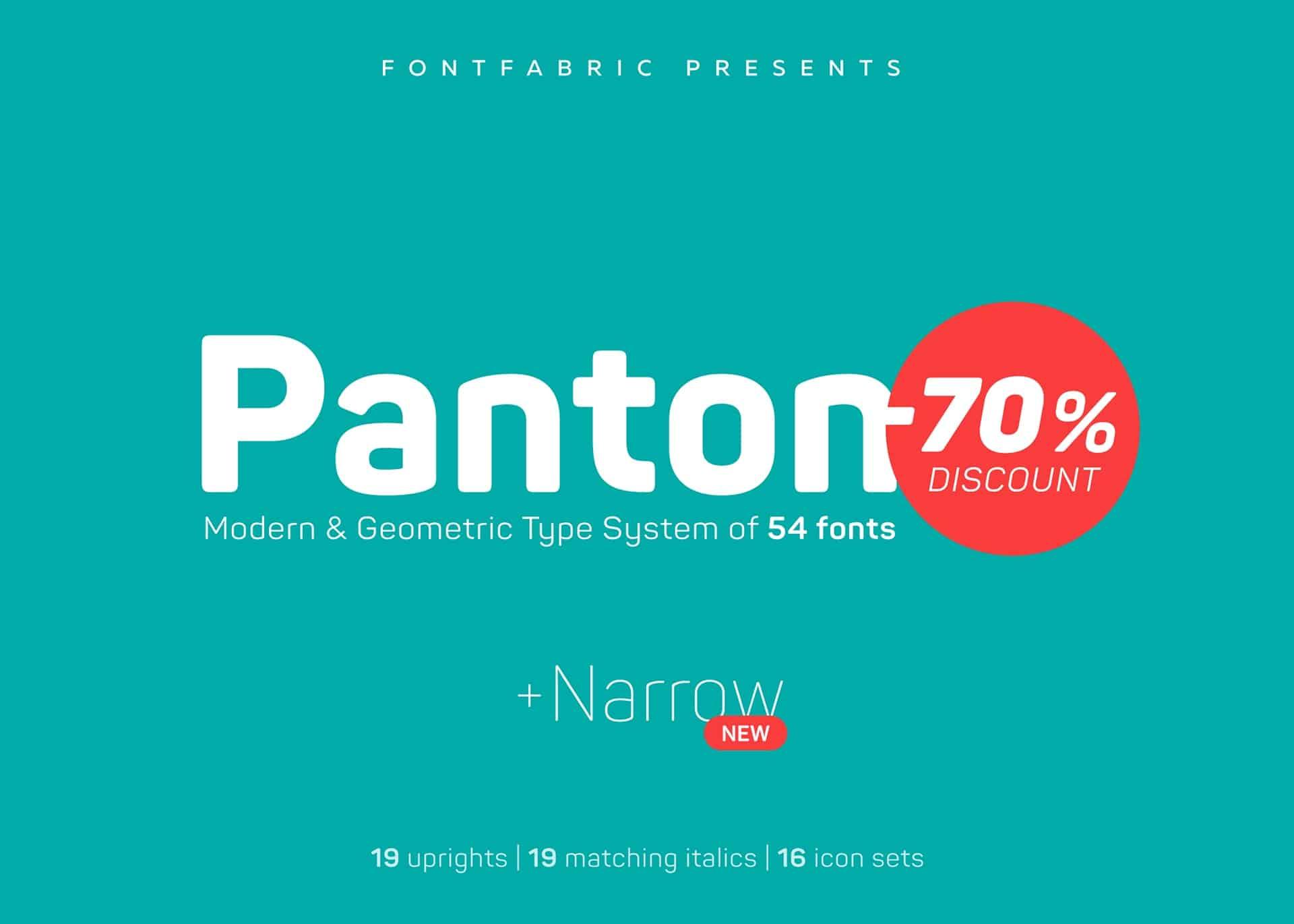 Download Panton Narrow font (typeface)
