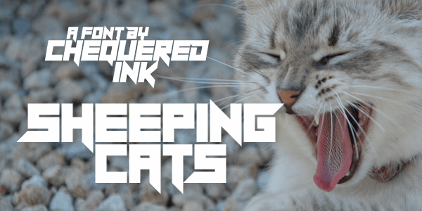 Download Sheeping Cats font (typeface)