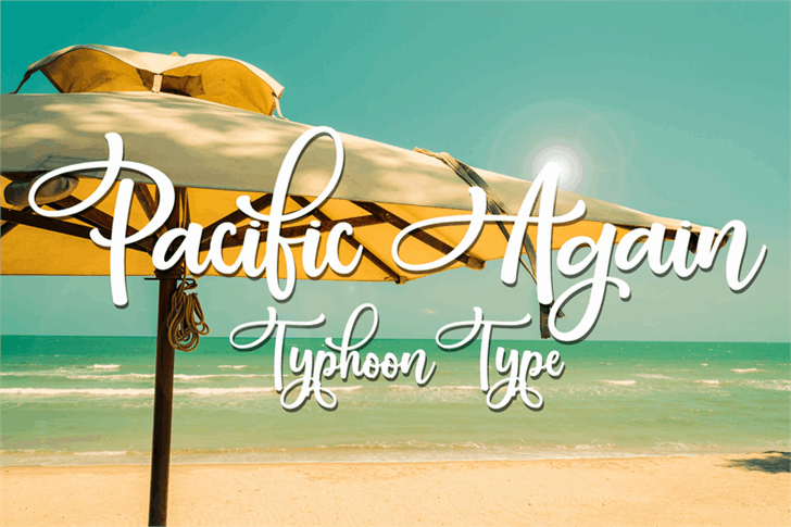 Download Pacific Again font (typeface)