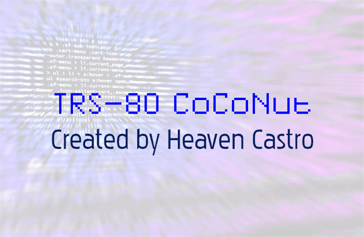 Download TRS-80 CoCoNut font (typeface)