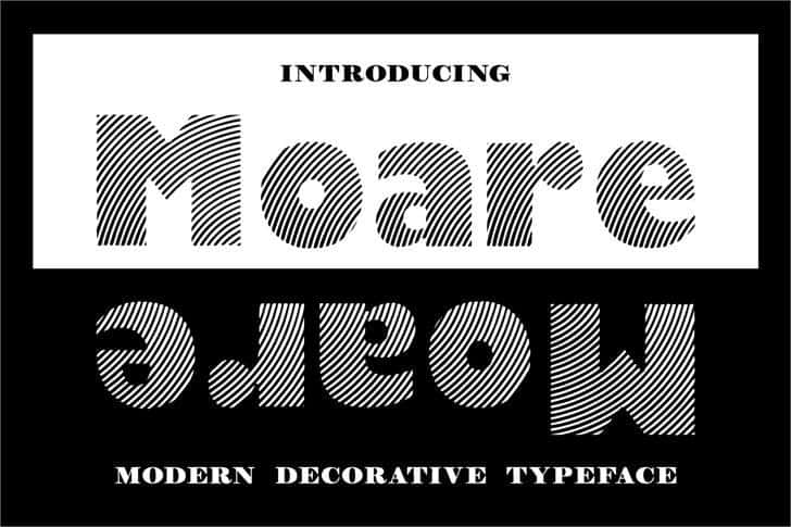 Download Moare font (typeface)
