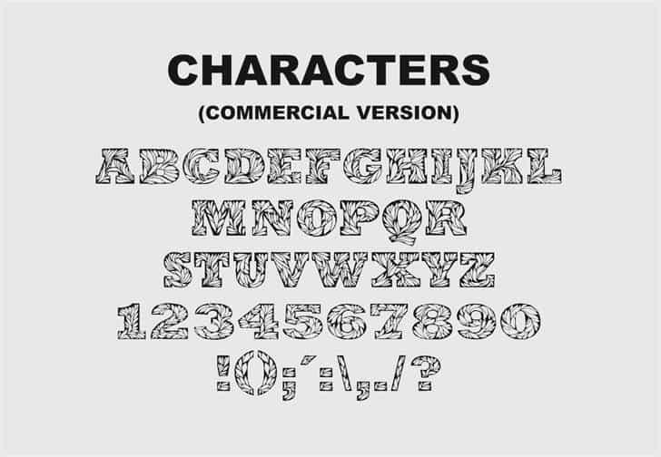 Leaffy шрифт скачать бесплатно