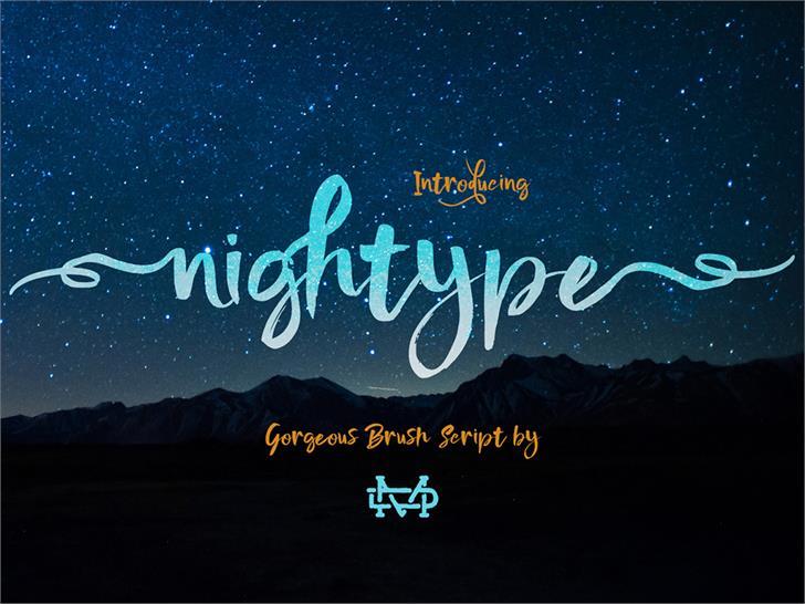 Download Nightype font (typeface)