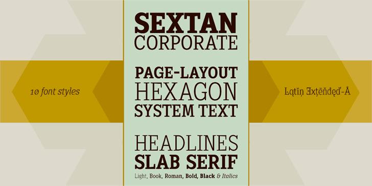 Download Sextan Roman font (typeface)