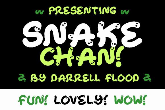 Snake Chan шрифт скачать бесплатно