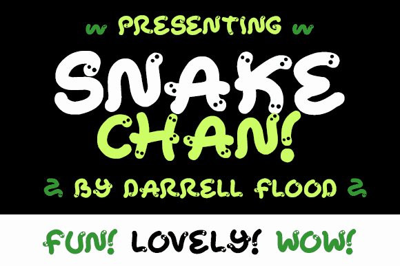 Download Snake Chan font (typeface)
