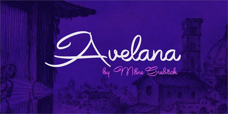Download Avelana font (typeface)