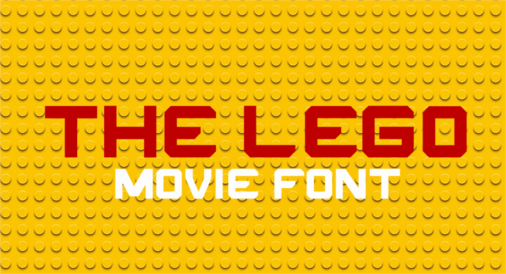 Download THE LEGO MOVIE font (typeface)