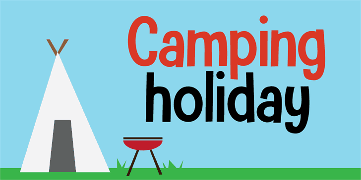 Download Camping Holiday font (typeface)