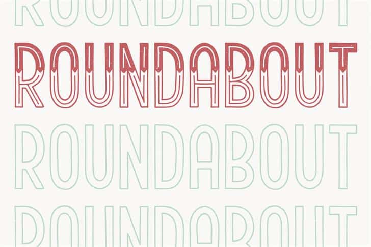 Download Roundabout font (typeface)