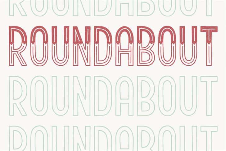 Roundabout шрифт скачать бесплатно