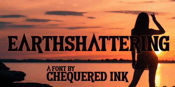 Download Earthshattering font (typeface)
