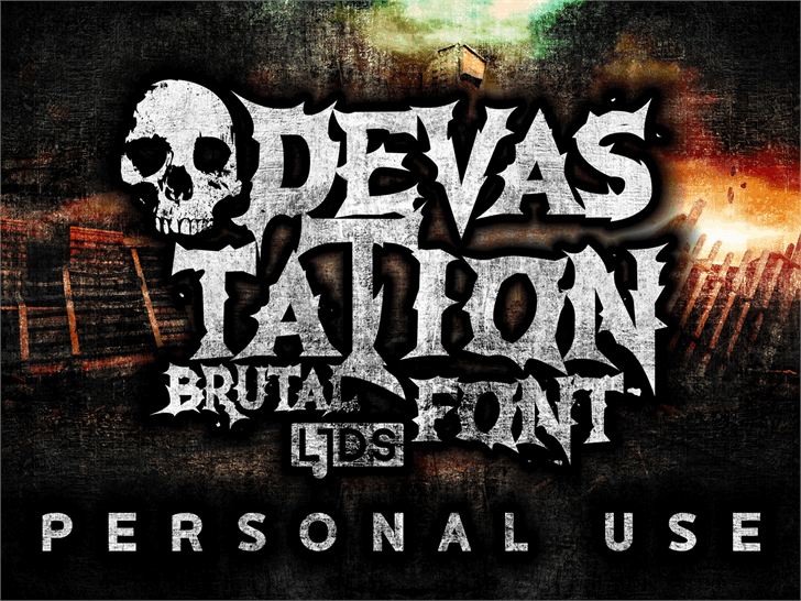 Download Devastation font (typeface)