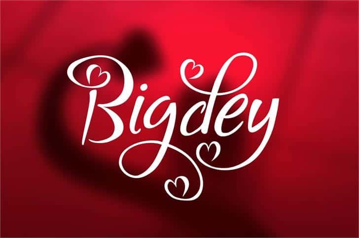 Download Bigdey font (typeface)