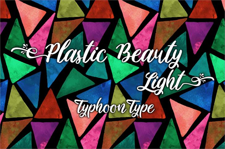 Download Plastic Beauty Light font (typeface)