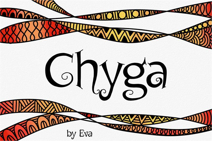 Download Chyga font (typeface)