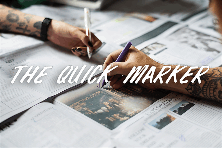 Download The Quick Marker font (typeface)
