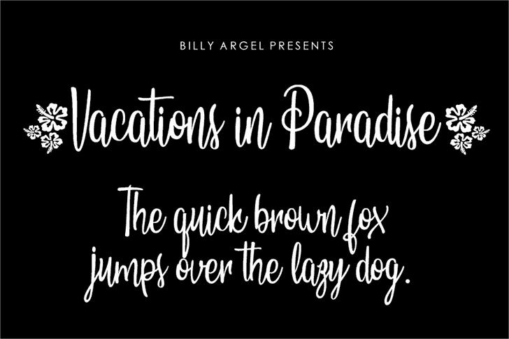Download Vacations in Paradise font (typeface)