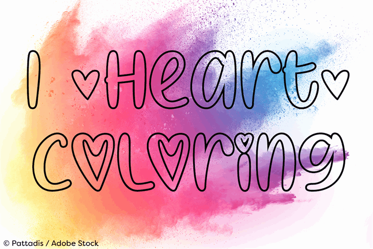 Download I Heart Coloring font (typeface)