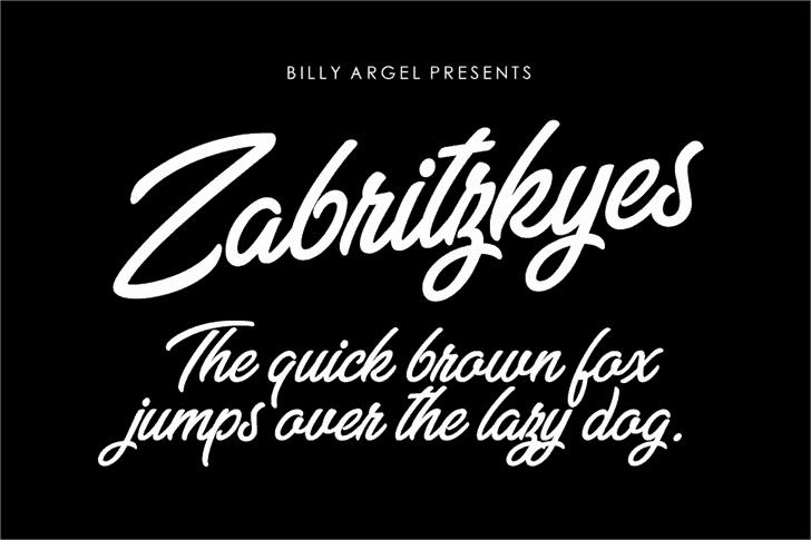 Zabritzkyes шрифт скачать бесплатно
