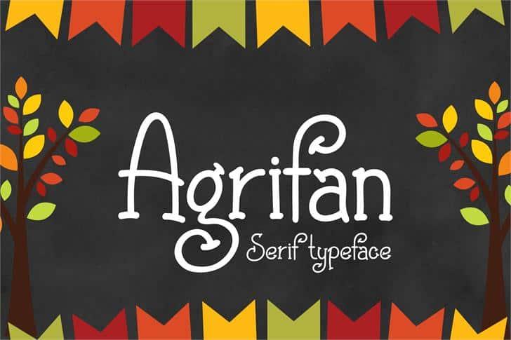 Agrifan шрифт скачать бесплатно