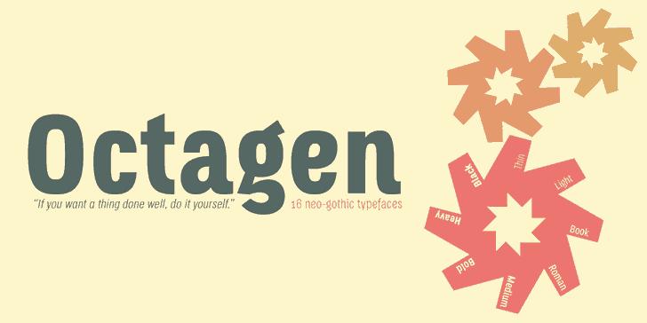 Octagen Light шрифт скачать бесплатно