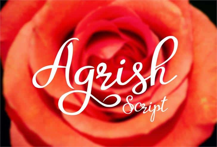 Download Agrish font (typeface)