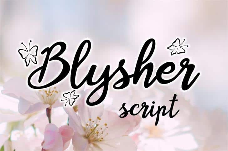 Download Blysher font (typeface)