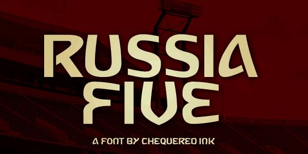 Russia Five шрифт скачать бесплатно