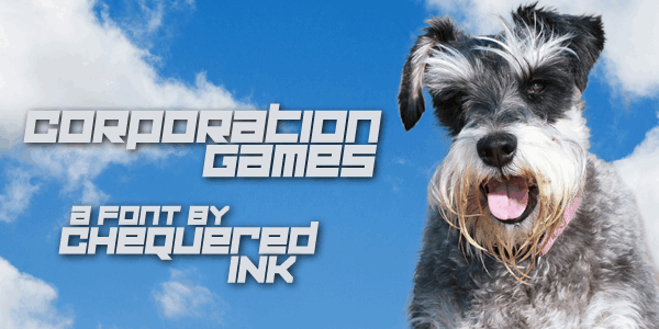 Download Corporation Games font (typeface)