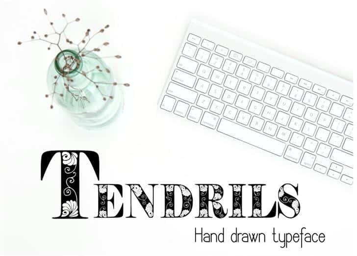 Download Tendrils font (typeface)